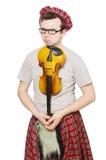 Αστείος scotsman με το βιολί Στοκ Εικόνες