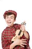 Αστείος scotsman με το βιολί Στοκ εικόνα με δικαίωμα ελεύθερης χρήσης