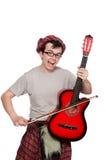 Αστείος scotsman με το μουσικό όργανο Στοκ φωτογραφία με δικαίωμα ελεύθερης χρήσης