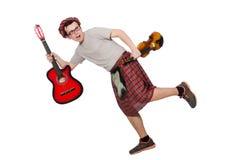 Αστείος scotsman με το μουσικό όργανο Στοκ φωτογραφίες με δικαίωμα ελεύθερης χρήσης