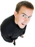 αστείο άτομο βλεμμάτων επάνω Στοκ Εικόνες