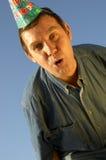 αστείο άτομο ΚΑΠ Στοκ φωτογραφία με δικαίωμα ελεύθερης χρήσης