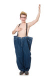Αστείο άτομο με το παντελόνι Στοκ φωτογραφία με δικαίωμα ελεύθερης χρήσης