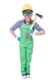 Αστείο άτομο με το τσεκούρι Στοκ Φωτογραφία