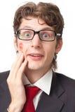 αστείο άτομο φιλιών Στοκ Φωτογραφίες