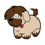 Αστείο δασύτριχο μπεζ σκυλί τσοπανόσκυλων διανυσματική απεικόνιση