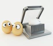 Αστείο αυγό ως κινούμενα σχέδια τρισδιάστατα Στοκ Φωτογραφία