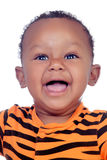 Αστείο αφρικανικό χαμόγελο μωρών Στοκ Εικόνες