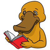 Αστείο ευτυχές platypus κινούμενων σχεδίων ή duckbill Στοκ εικόνες με δικαίωμα ελεύθερης χρήσης