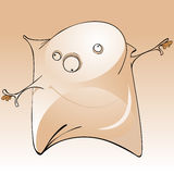 Αστείο εύθυμο μαξιλάρι χαρακτήρα κινουμένων σχεδίων Στοκ Φωτογραφίες