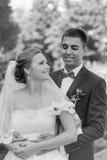 Αστείο ζεύγος, γαμήλια φωτογραφία Στοκ φωτογραφίες με δικαίωμα ελεύθερης χρήσης