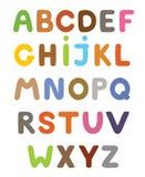 Αστείο ζωηρόχρωμο αλφάβητο κινούμενων σχεδίων Αλφαβητικά γράμματα ABC για τα παιδιά Στοκ Εικόνα