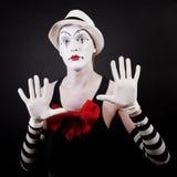 αστείο θέατρο makeup δραστών mime Στοκ φωτογραφία με δικαίωμα ελεύθερης χρήσης