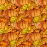 Αστείο και φρέσκο άνευ ραφής σχέδιο φθινοπώρου με τις κολοκύθες αρχικός Στοκ φωτογραφία με δικαίωμα ελεύθερης χρήσης