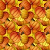 Αστείο και φρέσκο άνευ ραφής σχέδιο φθινοπώρου με τις κολοκύθες αρχικός Στοκ Φωτογραφίες