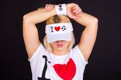 αστείο καπέλο κοριτσιών &p Στοκ Φωτογραφία