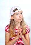 αστείο καπέλο κοριτσιών &pi Στοκ Φωτογραφίες