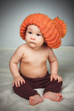 αστείο καπέλο κοριτσιών &la Στοκ Εικόνα