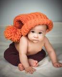 αστείο καπέλο κοριτσιών &la Στοκ εικόνα με δικαίωμα ελεύθερης χρήσης