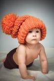 αστείο καπέλο κοριτσιών &la Στοκ Φωτογραφία