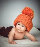 αστείο καπέλο κοριτσιών &la Στοκ φωτογραφίες με δικαίωμα ελεύθερης χρήσης