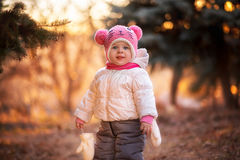 αστείο καπέλο κοριτσιών &la Στοκ Εικόνες