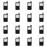 Αστείο κινητό σύνολο τηλεφωνικών εικονιδίων Στοκ εικόνα με δικαίωμα ελεύθερης χρήσης