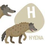 Αστείο κινούμενων σχεδίων σύνολο επιστολών αλφάβητου ζώων διανυσματικό Στοκ Φωτογραφίες