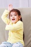 αστείο κορίτσι κίτρινο Στοκ εικόνες με δικαίωμα ελεύθερης χρήσης