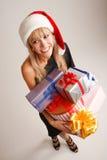 Αστείο κορίτσι Χριστουγέννων Στοκ εικόνα με δικαίωμα ελεύθερης χρήσης