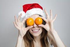 Αστείο κορίτσι Χριστουγέννων Στοκ φωτογραφίες με δικαίωμα ελεύθερης χρήσης