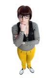 αστείο κορίτσι nerd Στοκ εικόνα με δικαίωμα ελεύθερης χρήσης
