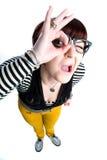 αστείο κορίτσι nerd στοκ εικόνα