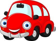 Αστείο κόκκινο αυτοκίνητο κινούμενων σχεδίων Στοκ Φωτογραφίες