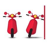 Αστείο κόκκινο Motobike Στοκ φωτογραφίες με δικαίωμα ελεύθερης χρήσης