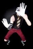 αστείο λευκό γαντιών mime Στοκ Εικόνα
