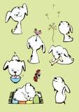 αστείο λευκό κουταβιών & διανυσματική απεικόνιση