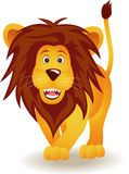 αστείο λιοντάρι κινούμενων σχεδίων Στοκ εικόνες με δικαίωμα ελεύθερης χρήσης