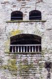 Αστείο μέρος του τοίχου φρουρίων Έκφραση του προσώπου ενός άψυχου αντικειμένου Στοκ Φωτογραφίες