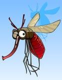 Αστείο μεγάλο κουνούπι κινούμενων σχεδίων ελεύθερη απεικόνιση δικαιώματος