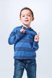 Αστείο μικρό παιδί στοκ φωτογραφίες με δικαίωμα ελεύθερης χρήσης