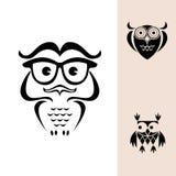 Αστείο λογότυπο κουκουβαγιών Στοκ Εικόνες