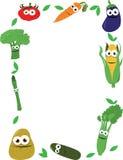 Αστείο πλαίσιο λαχανικών απεικόνιση αποθεμάτων