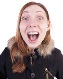 Αστείο πορτρέτο μιας κραυγής γυναικών Στοκ φωτογραφίες με δικαίωμα ελεύθερης χρήσης