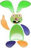 αστείο πράσινο κουνέλι διανυσματική απεικόνιση