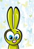 αστείο πράσινο rebbit Απεικόνιση αποθεμάτων
