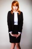 Αστείο πρόσωπο επιχειρησιακών γυναικών Στοκ Εικόνες