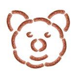 Αστείο πρόσωπο λουκάνικων χοιρινού κρέατος Στοκ εικόνα με δικαίωμα ελεύθερης χρήσης