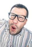 Αστείο πρόσωπο του νεαρού άνδρα στοκ φωτογραφίες με δικαίωμα ελεύθερης χρήσης