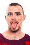 Αστείο πρόσωπο τραβεστί στοκ φωτογραφία με δικαίωμα ελεύθερης χρήσης